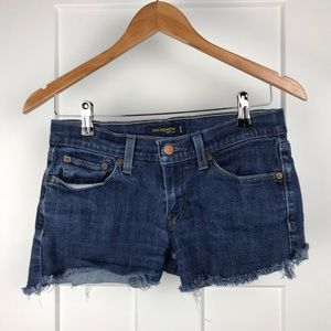 Levi's 524 too super low 7M Jean shorts